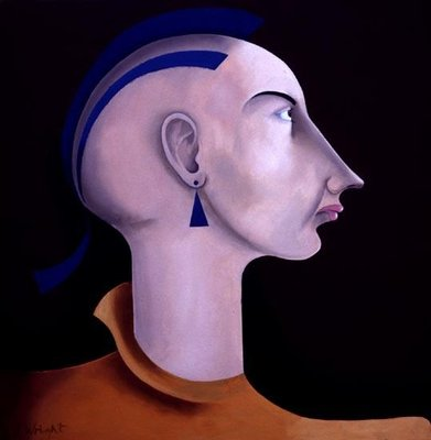 Women in Profile Series, No. 2, 1998 Fine Art Print by John Wright