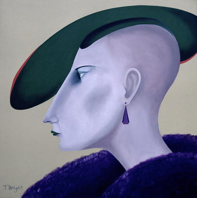 Women in Profile Series, No. 3, 1998 Fine Art Print by John Wright