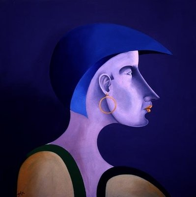 Women in Profile Series, No. 5, 1998 Fine Art Print by John Wright