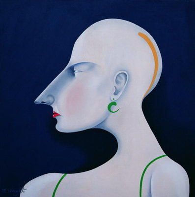 Women in Profile Series, No. 6, 1998 Fine Art Print by John Wright