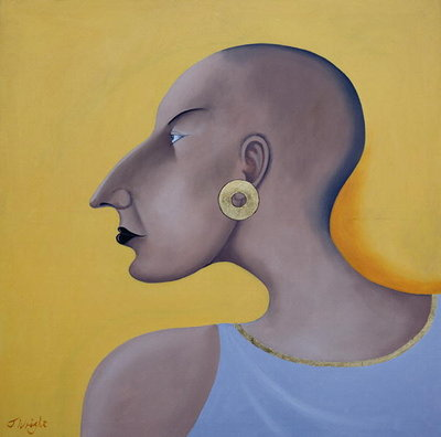 Women in Profile Series, No.7, 1998 Fine Art Print by John Wright