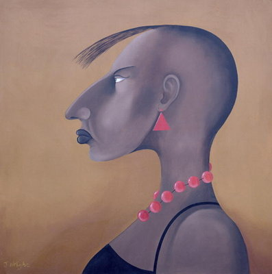 Women in Profile Series, No. 8, 1998 Fine Art Print by John Wright
