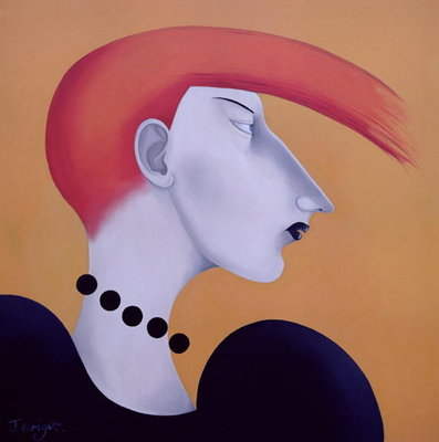 Women in Profile Series, No. 9, 1998 Fine Art Print by John Wright