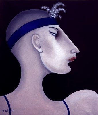 Women in Profile Series, No. 10, 1998 Fine Art Print by John Wright