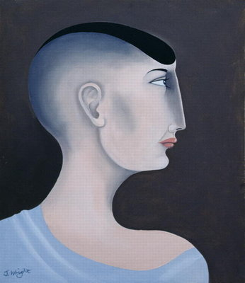 Women in Profile Series, No. 11, 1998 Fine Art Print by John Wright