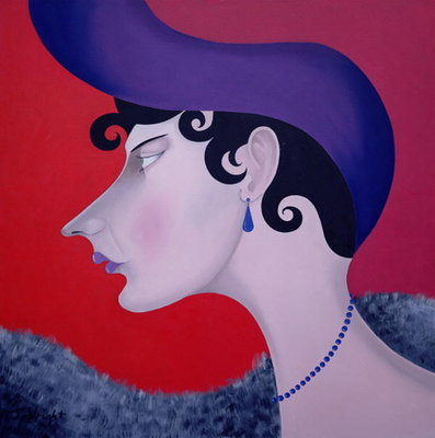 Women in Profile Series, No. 13, 1998 Fine Art Print by John Wright