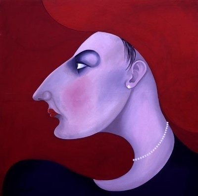 Women in Profile Series, No. 14, 1998 Fine Art Print by John Wright