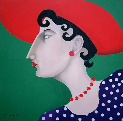 Women in Profile Series, No. 16, 1998 Fine Art Print by John Wright