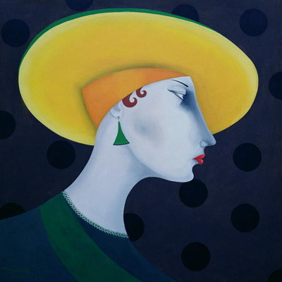 Women in Profile Series, No. 18, 1998 Fine Art Print by John Wright