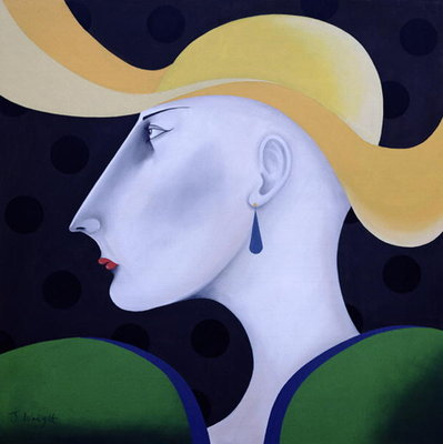 Women in Profile Series, No.19, 1998 Fine Art Print by John Wright