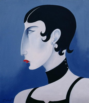 Women in Profile Series, No. 20, 1998 Fine Art Print by John Wright