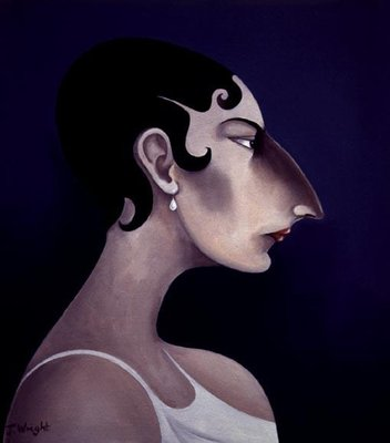 Women in Profile Series, No. 21, 1998 Fine Art Print by John Wright