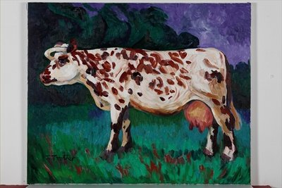 Normandy Cow, 2002 Fine Art Print by Josephine Trotter