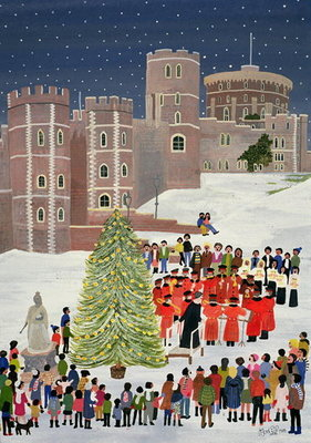 Windsor Castle Carol Concert, 1989 Poster Art Print by Judy Joel