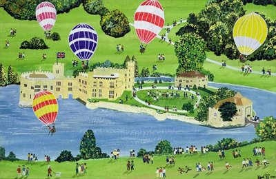 Ballooning at Leeds Castle Fine Art Print by Judy Joel