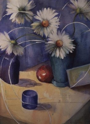 Arrangement with Gerberas Wall Art & Canvas Prints by Karen Armitage