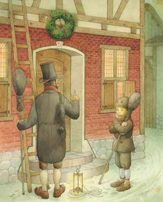 Chimney-sweep Christmas 01, 2001 Poster Art Print by Kestutis Kasparavicius