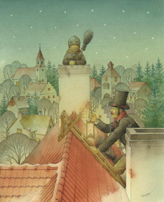 Chimney-sweep Christmas 02, 2001 Poster Art Print by Kestutis Kasparavicius