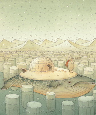 Island, 2005 (w/c on paper) Wall Art & Canvas Prints by Kestutis Kasparavicius