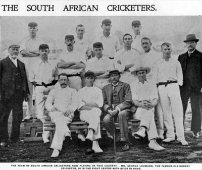 The South African Cricketers, illustration from 'The King', May 25th 1901 Fine Art Print by English Photographer
