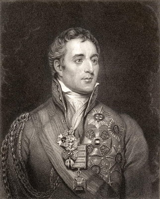 Portrait of Arthur Wellesley, 1st Duke of Wellington Fine Art Print by English School