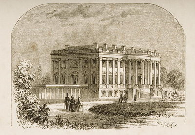 The White House, in c.1870, from 'American Pictures' published by the Religious Tract Society, 1876 Fine Art Print by English School