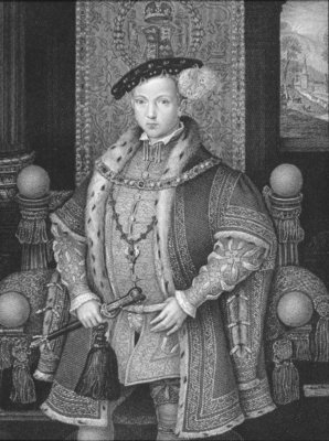 Portrait of King Edward VI Fine Art Print by English School