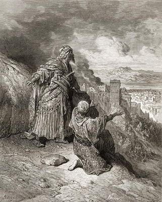 Boabdil (Muhammad XI) the last Arab King of Granada is exiled in 1542, illustration from 'Bibliotheque des Croisades' by J-F. Michaud, 1877 (litho) Fine Art Print by Gustave Dore