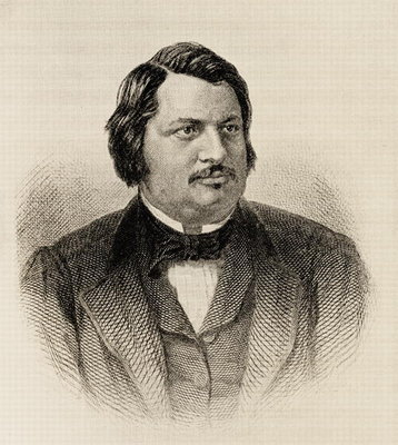 Honore de Balzac (1799-1850) (engraving) Postcards, Greetings Cards, Art Prints, Canvas, Framed Pictures, T-shirts & Wall Art by French School