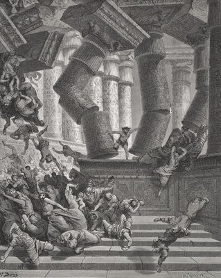 Death of Samson, Judges Fine Art Print by Gustave Dore
