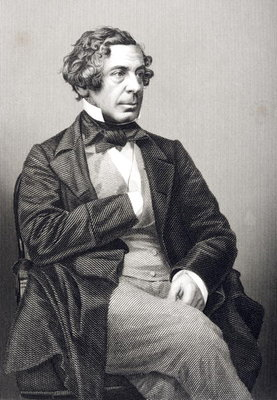 Samuel Warren (1807-77) engraved by D.J. Pound from a photograph, from 'The Drawing-Room of Eminent Personages, Volume 2', published in London, 1860 (engraving) Wall Art & Canvas Prints by John Jabez Edwin Paisley Mayall