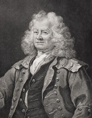 Thomas Coram, engraved by J.W. Cook Fine Art Print by William Hogarth