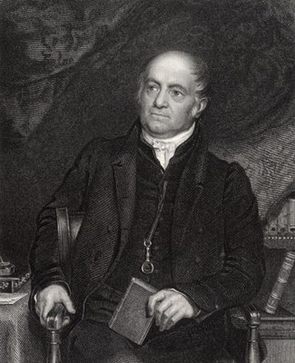 Olinthus Gilbert Gregory, engraved by H. Robinson, from 'National Portrait Gallery, volume V', published c.1835 (litho) Fine Art Print by Richard Evans