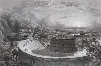 Ancient Ephesus from above the Theatre, engraved by William Richardson Fine Art Print by Edward Falkener