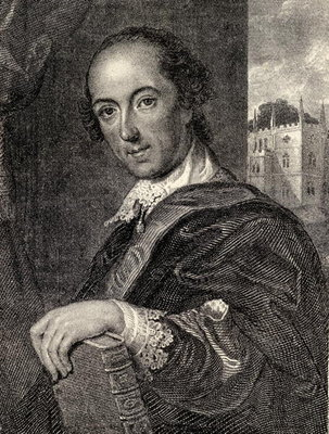 Horace Walpole, illustration from 'Memoirs of Eminent Etonians', by Sir Edward Creasy published London 1876 Fine Art Print by John Giles Eccardt