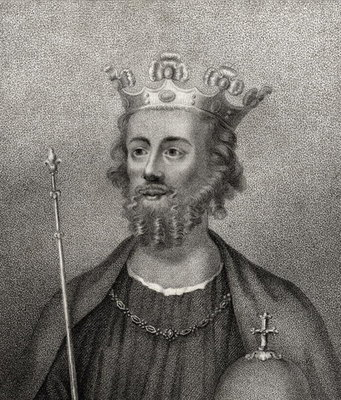 Edward II, engraved by Bocquet, from 'A Catalogue of the Royal and Noble Authors', published 1806 Fine Art Print by English School