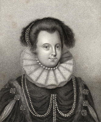 Lady Margaret Russell, engraved by Bocquet, illustration from 'A catalogue of Royal and Noble Authors, Volume II', published in 1806 Fine Art Print by English School