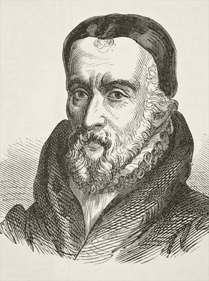 William Tyndale, from 'The National and Domestic History of England' by William Hickman Smith Aubrey (1858-1916) published London, c.1890 (litho) Postcards, Greetings Cards, Art Prints, Canvas, Framed Pictures, T-shirts & Wall Art by English School