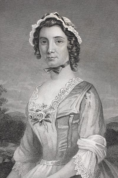 Mary Philipse, from 'Gallery of Historical Portraits', published c.1880 Fine Art Print by English School