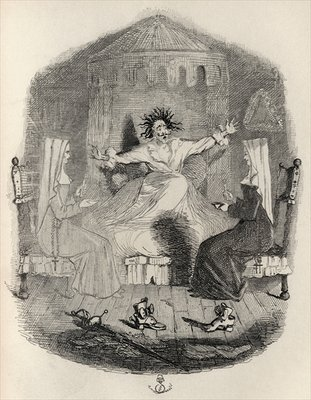 The Black Mousquetaire, from 'The Ingoldsby Legends' by Thomas Ingoldsby, published by Richard Bentley & Son, 1887 (litho) Wall Art & Canvas Prints by John Leech