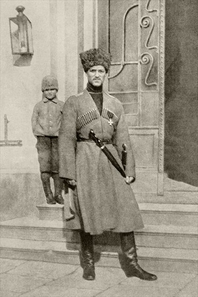 Grand Duke Michael of Russia in Cossack uniform, from 'L'Illustration', published in 1917 Fine Art Print by French School