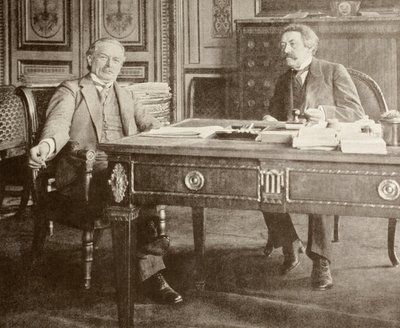 David Llyod George meets Aristide Briand in Paris, 1916, from 'L'Illustration', published 1916 Fine Art Print by French School