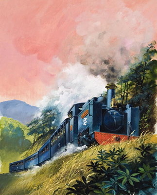 All Aboard for Devil's Bridge (gouache on paper) Fine Art Print by English School