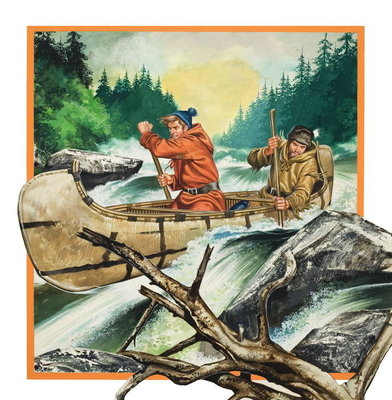 Jack London Fine Art Print by Ron Embleton