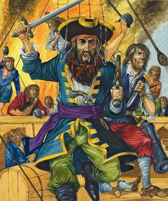 Blackbeard Fine Art Print by Richard Hook