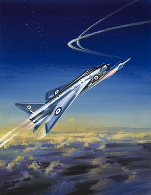 The Lightning Poster Art Print by Wilf Hardy