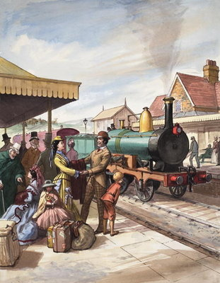 The Sunday 'Train-Call' Fine Art Print by Ralph Bruce