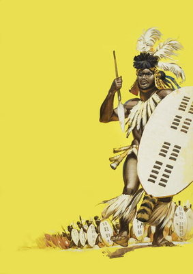 Zulu Warriors (gouache on paper) Wall Art & Canvas Prints by Angus McBride