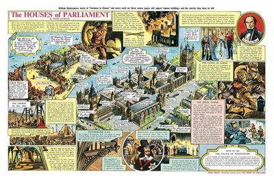 The Houses of Parliament (gouache on paper) Wall Art & Canvas Prints by Peter Jackson