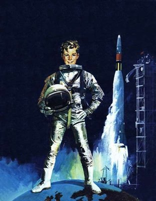 Boy in space outfit Fine Art Print by English School